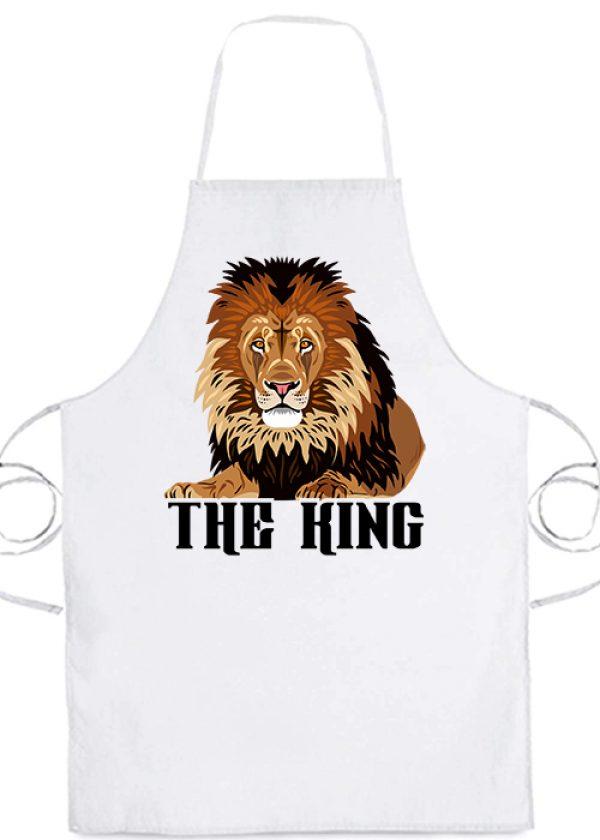 Kötény The king fehér