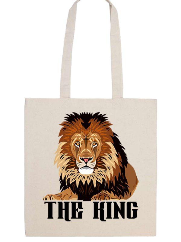 Táska hosszú fülű The king natúr