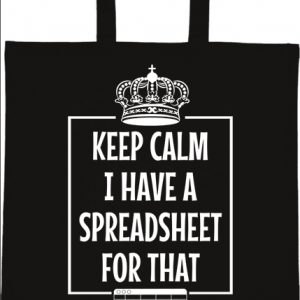 Keep calm I have a spreadsheet – Basic rövid fülű táska