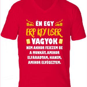ERP key user-Férfi V nyakú póló