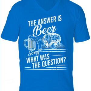 The answer is beer-Férfi V nyakú póló
