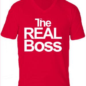 The real boss-Férfi V nyakú póló