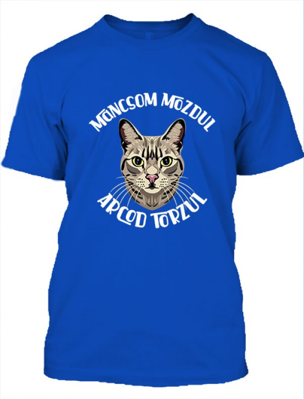 Férfi póló Macska mancs királykék