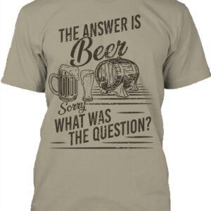 The answer is beer – Férfi póló