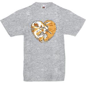 Cica szív- Gyerek póló