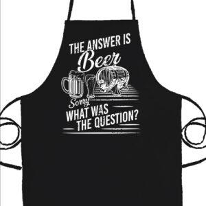 The answer is beer- Basic kötény