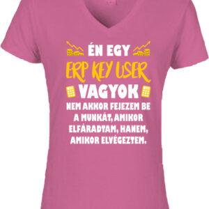 ERP key user-Női V nyakú póló