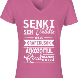 Tökéletes grafikusok-Női V nyakú póló