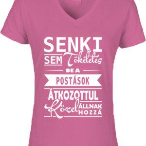 Tökéletes postások-Női V nyakú póló