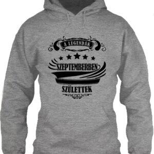 A legendák szeptemberben születtek – Unisex kapucnis pulóver