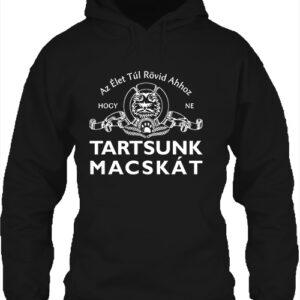 Tartsunk macskát – Unisex kapucnis pulóver