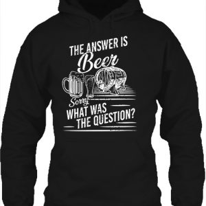 The answer is beer – Unisex kapucnis pulóver