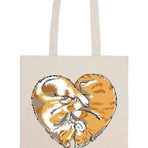 Cica szív – Prémium hosszú fülű táska