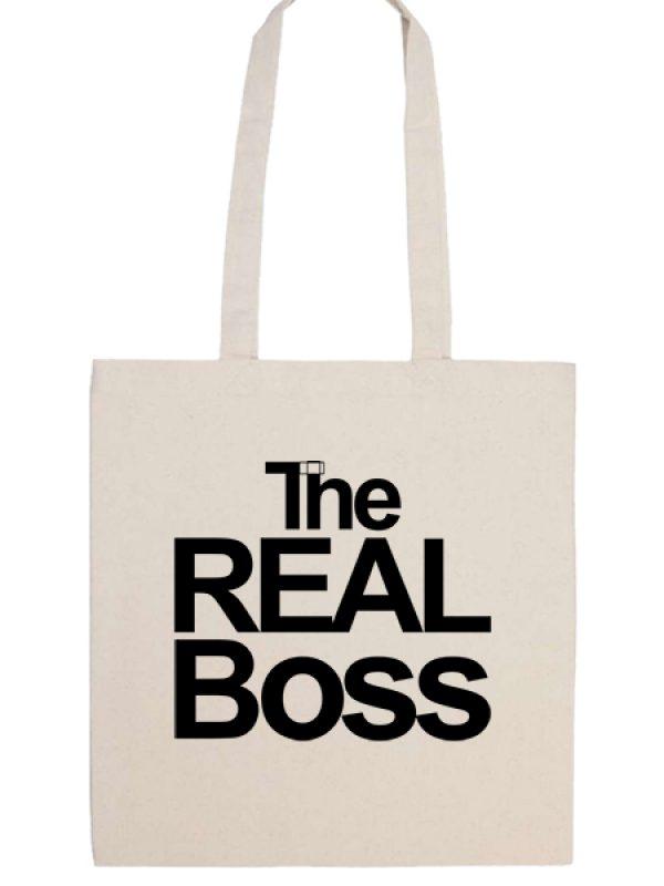 Táska hosszú fülű The real boss natúr