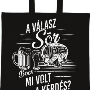 A válasz sör – Basic rövid fülű táska