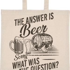 The answer is beer – Basic rövid fülű táska