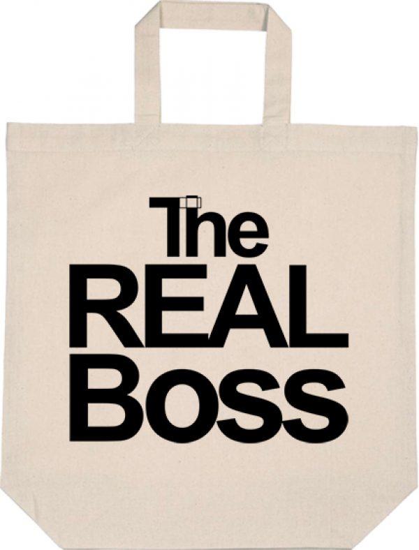 Táska rövid fülű The real boss natúr