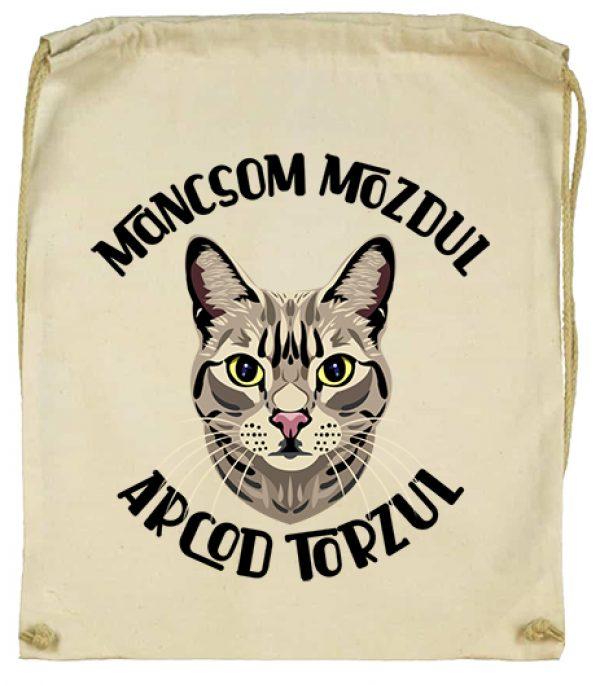 Tornazsák Macska mancs natúr