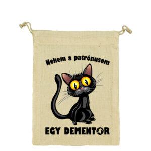 Patrónus cica – Vászonzacskó közepes