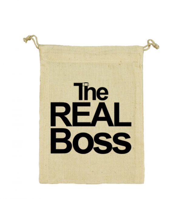 Vászonzacskó The real boss