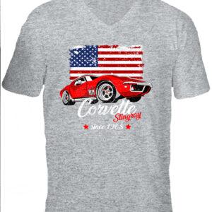 Corvette – Férfi V nyakú póló