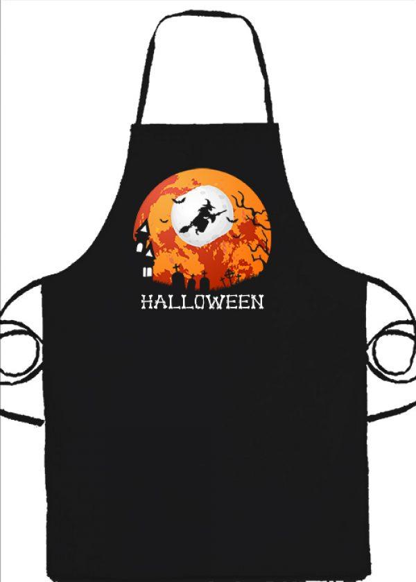 Kötény Halloween boszorkány fekete