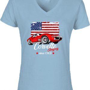 Corvette – Női V nyakú póló