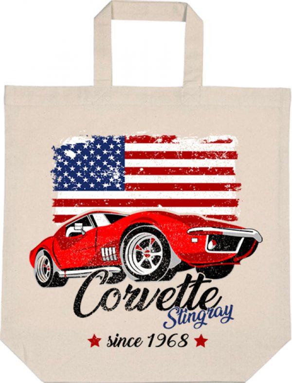 Táska rövid fülű Corvette natúr