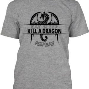 Eat sleep kill a dragon – Férfi póló