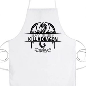 Eat sleep kill a dragon repeat- Prémium kötény