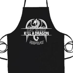 Eat sleep kill a dragon repeat- Basic kötény