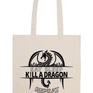 Eat sleep kill a dragon – Basic hosszú fülű táska