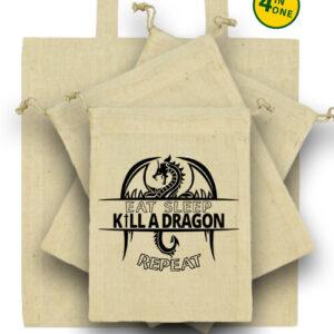 Eat sleep kill a dragon repeat – Táska szett
