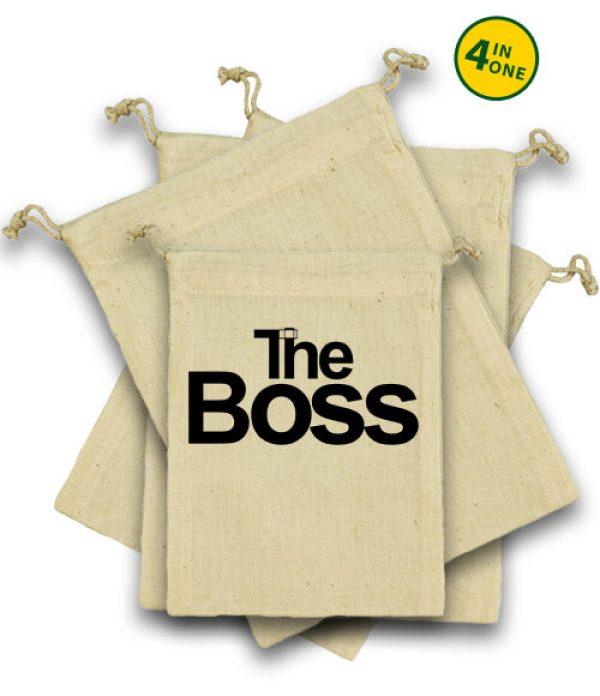 Vászonzacskó szett The boss