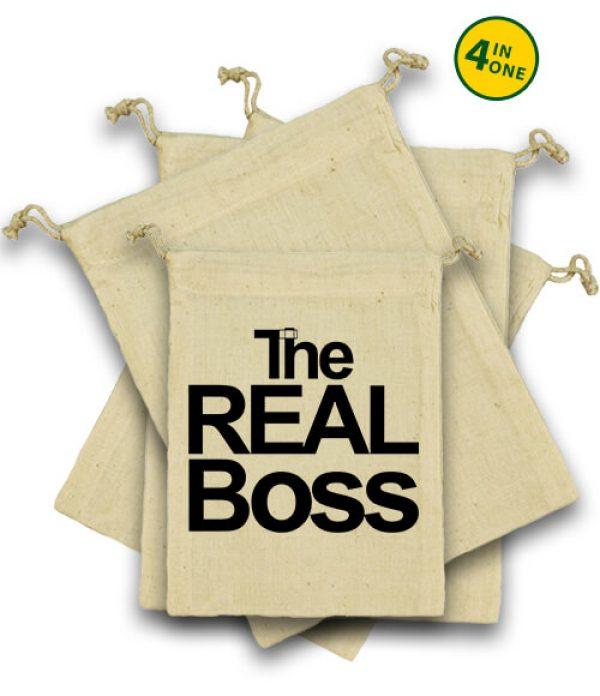 Vászonzacskó szett The real boss
