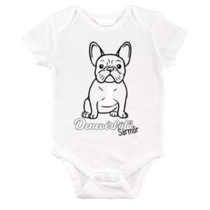 Denevérfülű sármőr francia bulldog – Baby Body