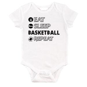 Eat sleep basketball repeat – Baby Body