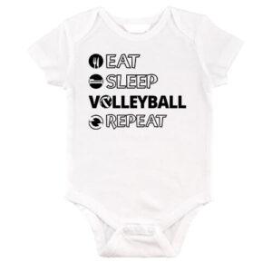 Eat sleep volleyball repeat – Baby Body