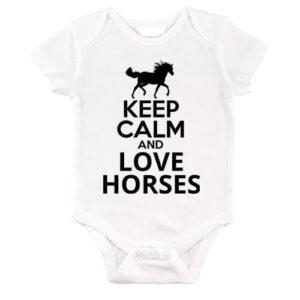 Keep calm and love horses lovas – Baby Body