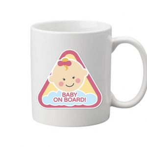 Baby  on board lány – Bögre