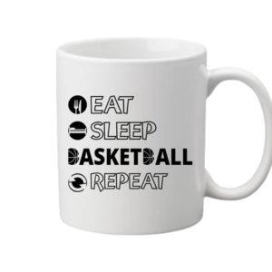 Eat sleep basketball repeat – Bögre
