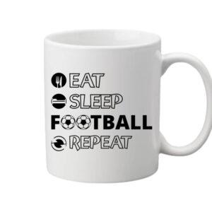 Eat sleep football repeat – Bögre