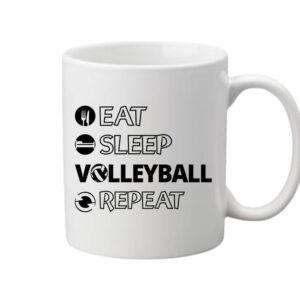 Eat sleep volleyball repeat – Bögre