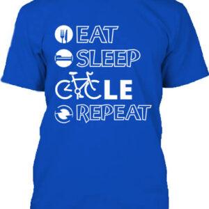 Eat sleep cycle repeat – Férfi póló