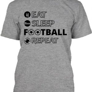 Eat sleep football repeat – Férfi póló