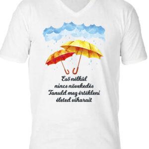Eső nélkül nincs növekedés – Férfi V nyakú póló