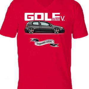 Golf őrültek V – Férfi V nyakú póló