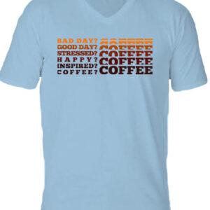 I love coffee – Férfi V nyakú póló