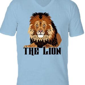 The lion Az oroszlán – Férfi V nyakú póló
