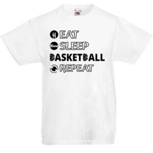 Eat sleep basketball repeat- Gyerek póló